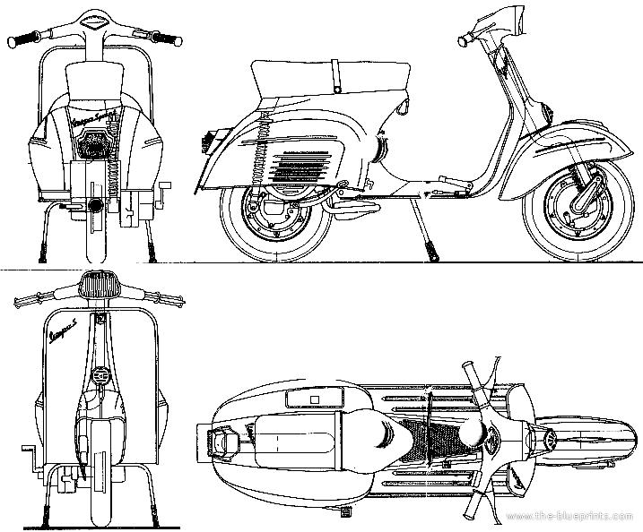 Blueprints > Motorcycles > Piaggio > Piaggio Vespa Sprint