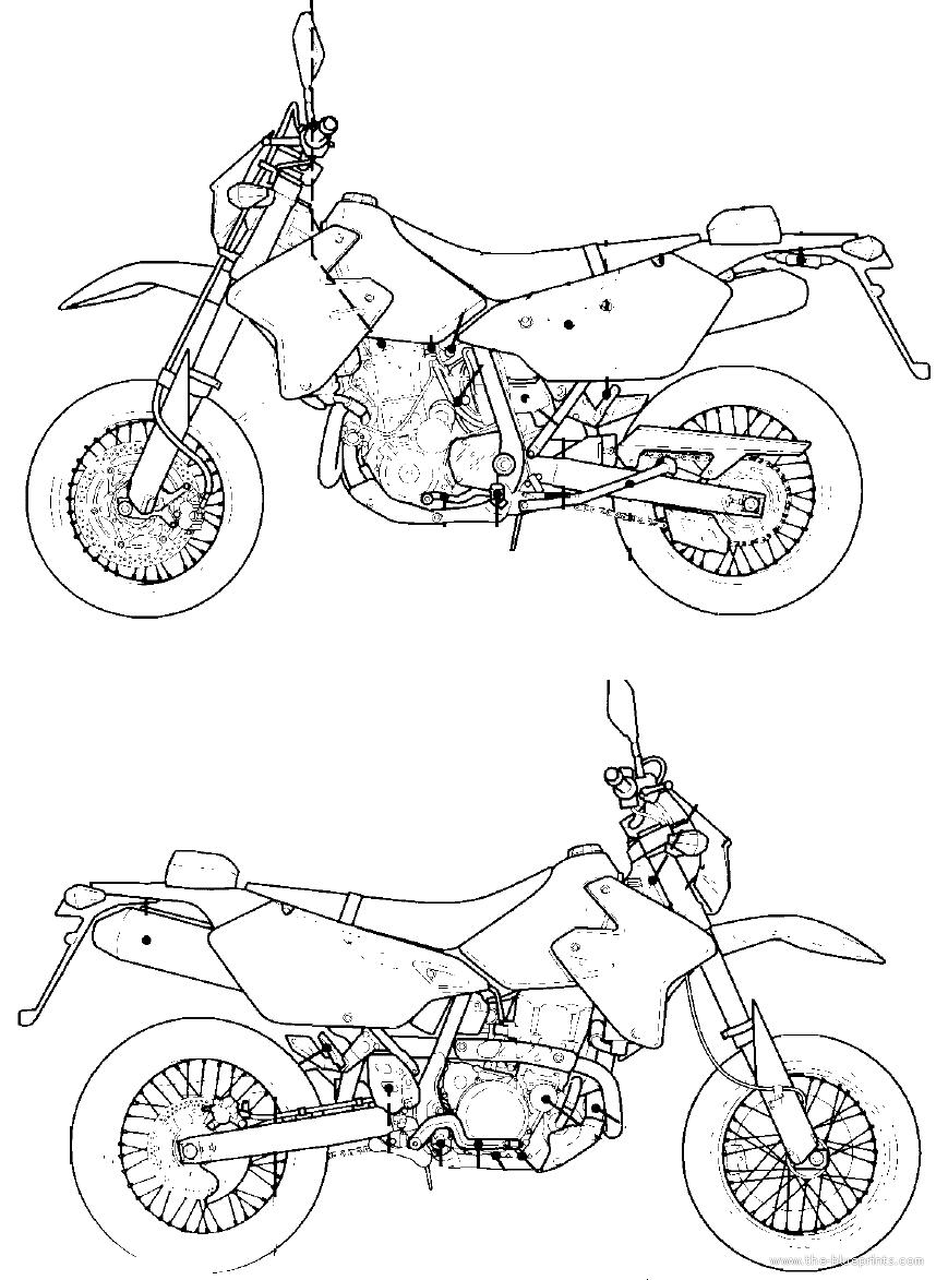 Blueprints > Motorcycles > Suzuki > Suzuki DR-Z400SM (2006)