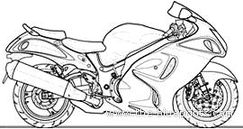 Blueprints > Motorcycles > Suzuki > Suzuki Hayabusa 1300cc