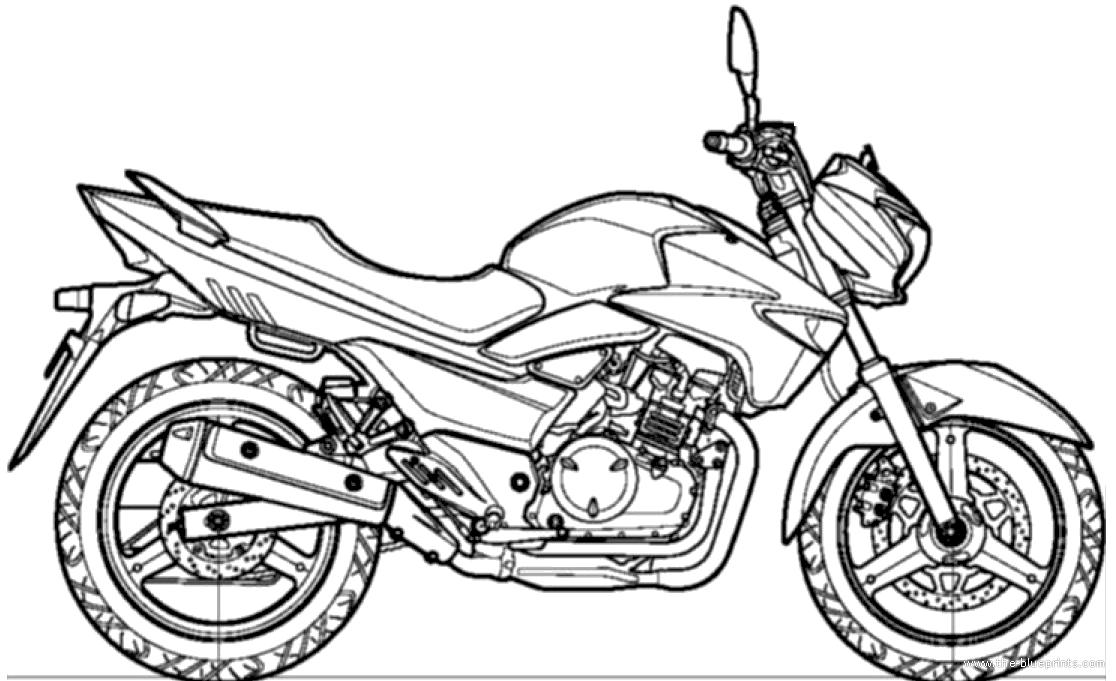 Blueprints > Motorcycles > Suzuki > Suzuki Inazuma (2014)
