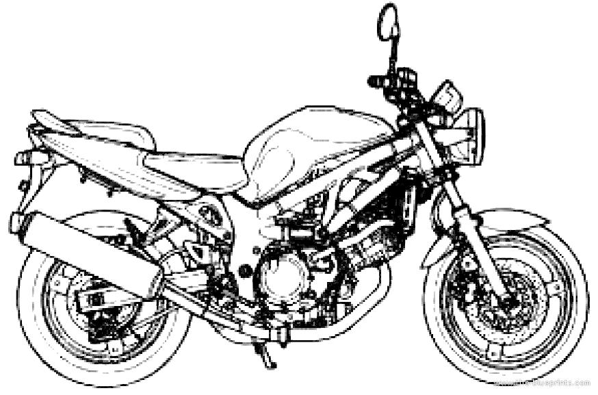 Blueprints > Motorcycles > Suzuki > Suzuki SV650 (2000)