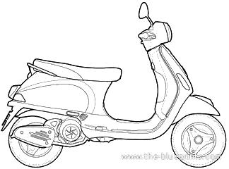 Blueprints > Motorcycles > Vespa > Vespa LX 125