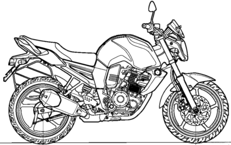 Blueprints > Motorcycles > Yamaha > Yamaha FZ-S (2013)