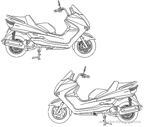 Blueprints > Motorcycles > Yamaha > Yamaha Majesty C