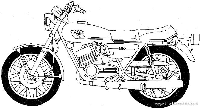 Blueprints > Motorcycles > Yamaha > Yamaha RD350B (1975)
