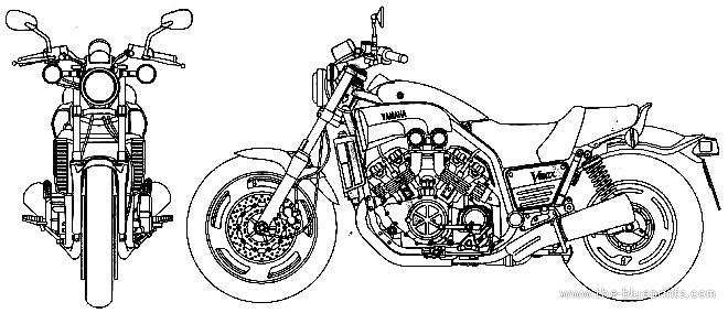 Blueprints > Motorcycles > Yamaha > Yamaha VMax (2001)