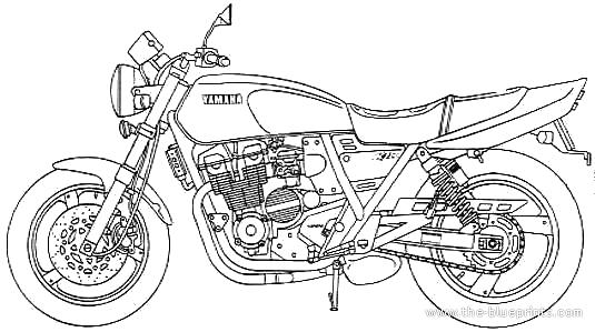Blueprints > Motorcycles > Yamaha > Yamaha XJR400
