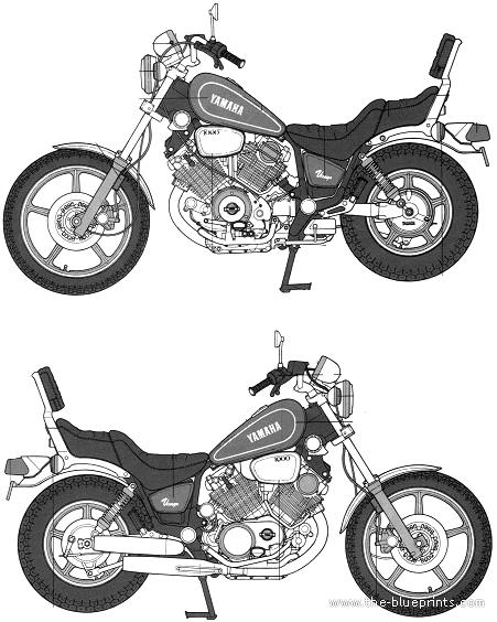Blueprints > Motorcycles > Yamaha > Yamaha XV1000 Virago