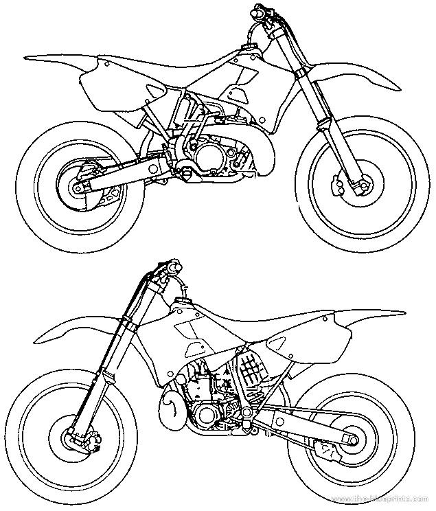 Blueprints > Motorcycles > Yamaha > Yamaha YZ 250 MLC (2000)