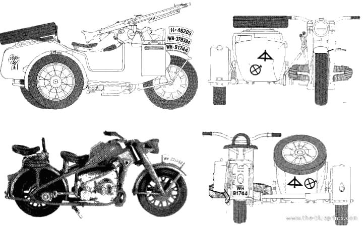 Blueprints > Motorcycles > Zundapp > Zuendapp KS750 M Sidecar