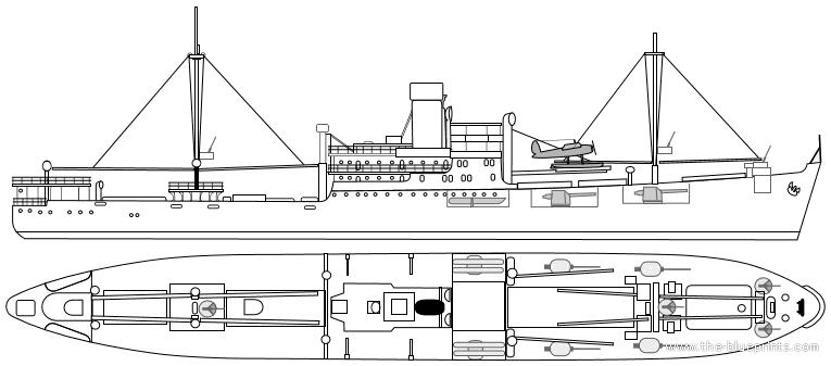 Blueprints > Ships > Cruisers (Germany) > DKM Komet HSK-7