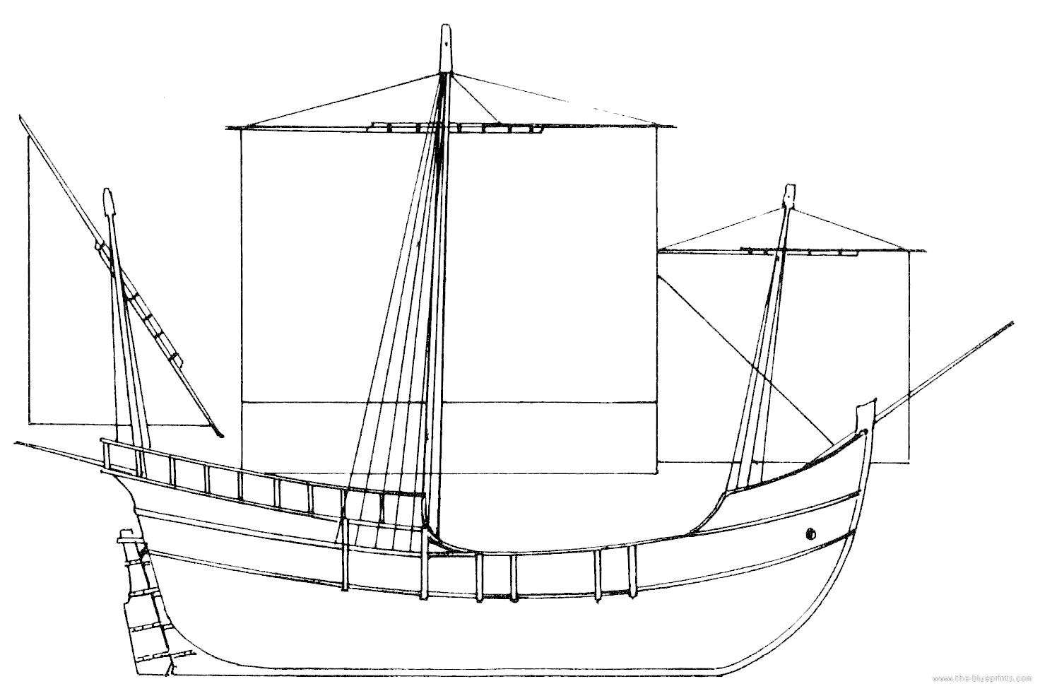 Blueprints > Ships > Ships (Other) > Pinta (1492)