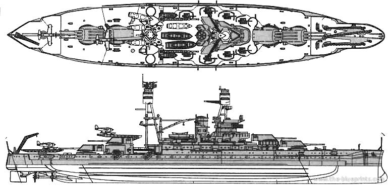 Blueprints Ships Uss Arizona Battleship