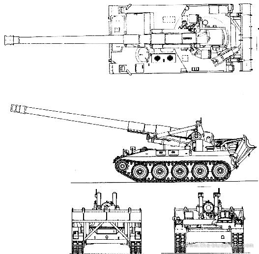 Blueprints > Tanks > Tanks M > M110A2 203mm SPG