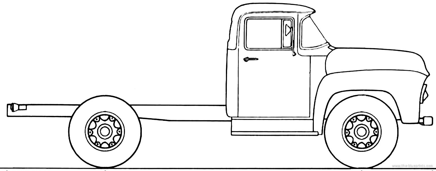 Blueprints > Trucks > Ford > Ford F-900 1956