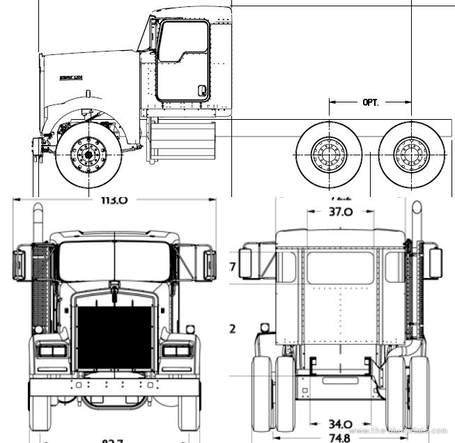 Blueprints > Trucks > Kenworth > Kenworth W900B (2016)