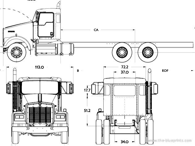 Blueprints > Trucks > Kenworth > Kenworth W900S (2016)
