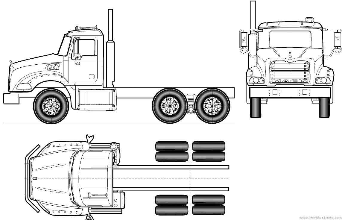 Blueprints > Trucks > Mack > Mack Granite Axle Back GU813