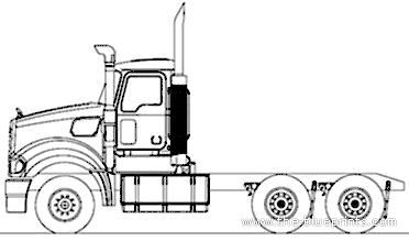 Blueprints > Trucks > Mack > Mack Super-Liner 6x4 Day Cab