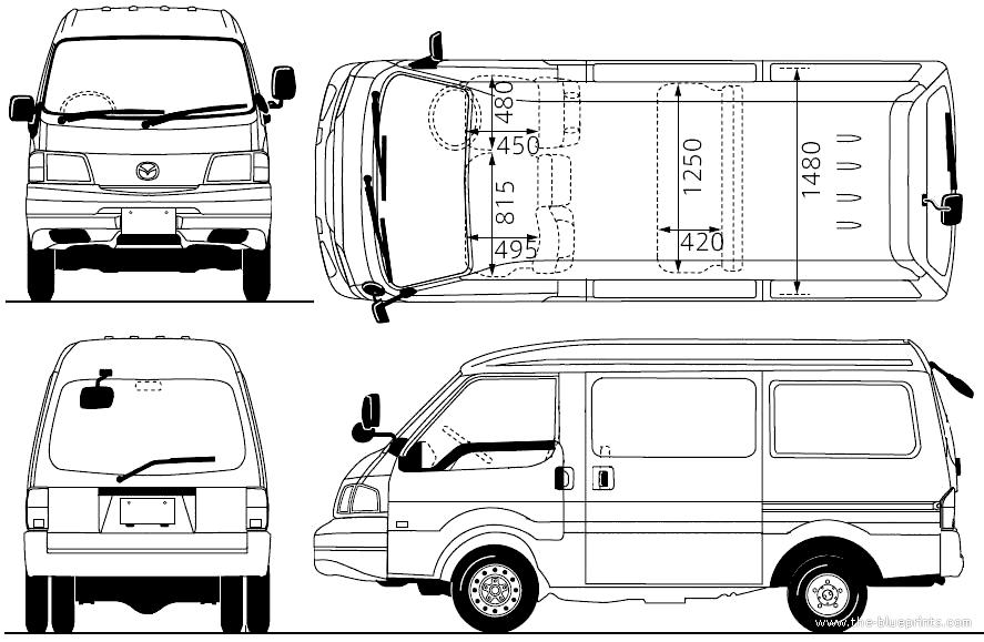 Blueprints > Trucks > Mazda > Mazda Bongo 4WD (2010)