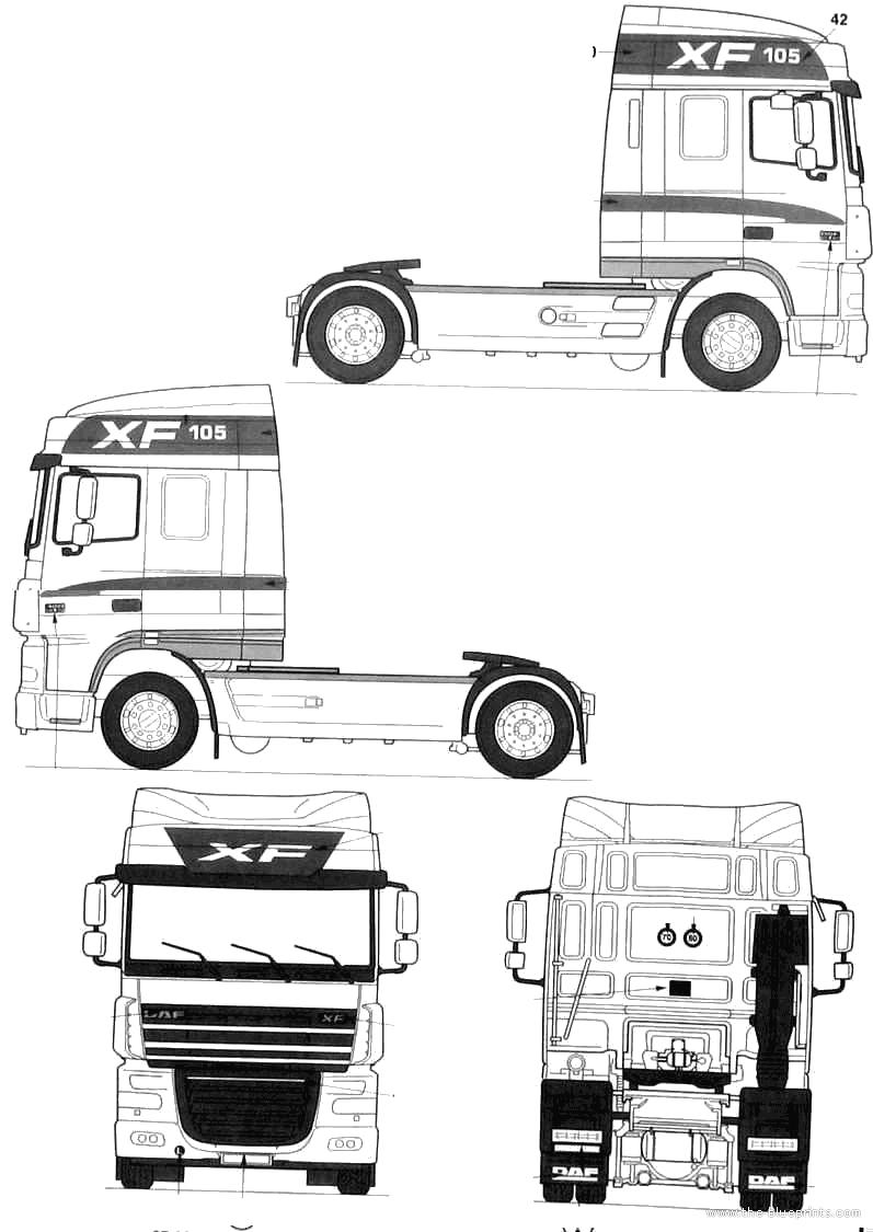 Blueprints > Trucks > Trucks > DAF XF105