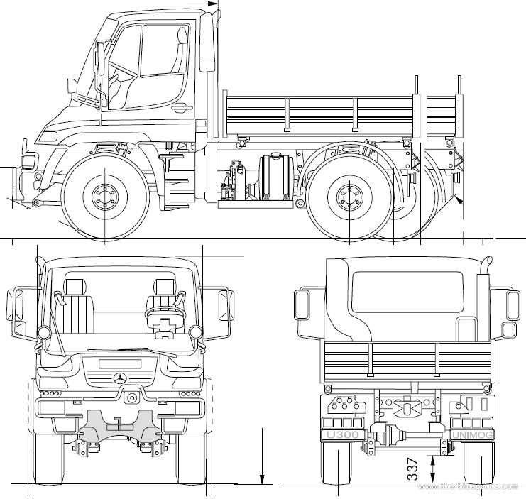 Blueprints > Trucks > Unimog > Unimog U300 (2008)