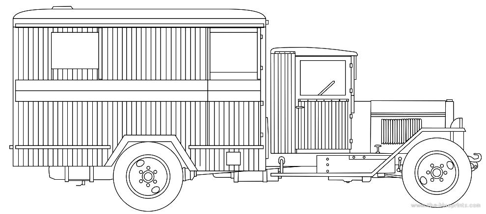 Blueprints > Trucks > ZiS > ZIS-44