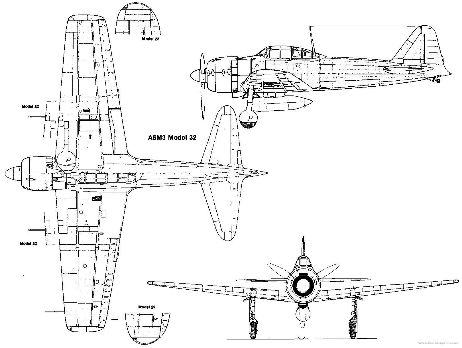 Blueprints > WW2 Airplanes > Mitsubishi > Mitsubishi A6M3