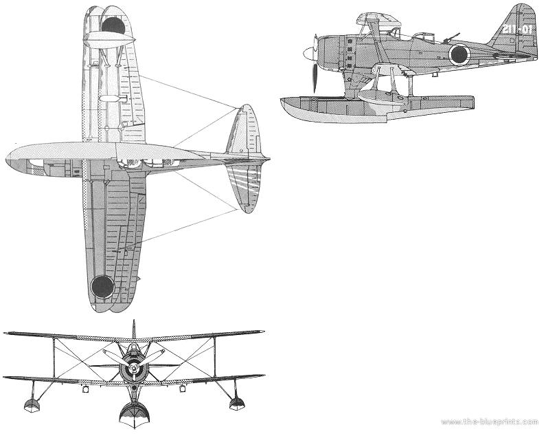 Blueprints > WW2 Airplanes > Mitsubishi > Mitsubishi F1M2