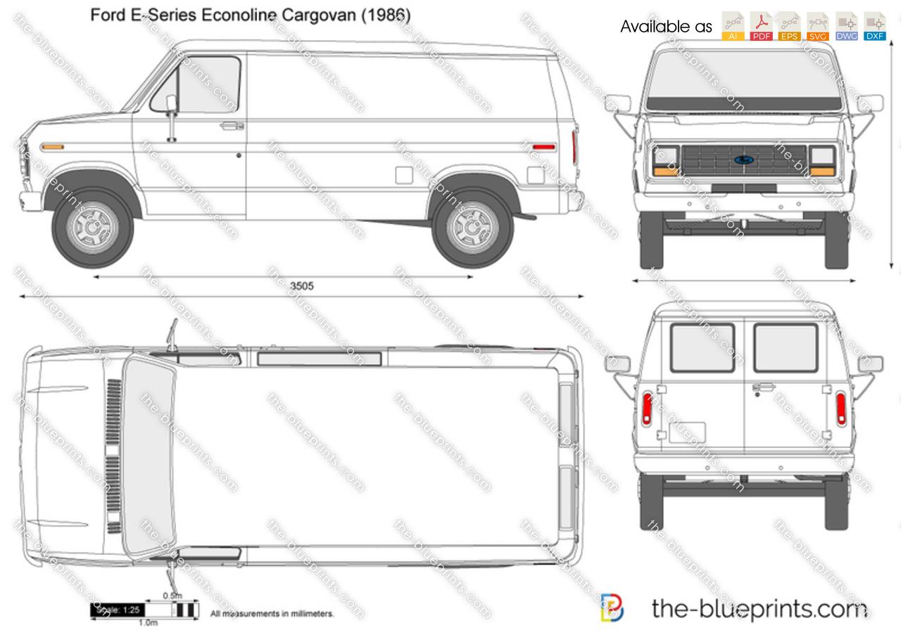Ford E-Series Econoline Cargovan vector drawing