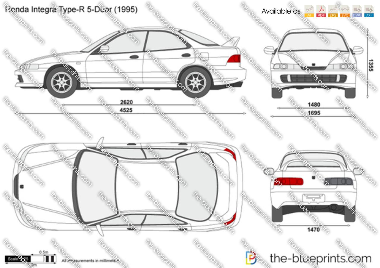 Honda Integra Type-R 5-Door vector drawing