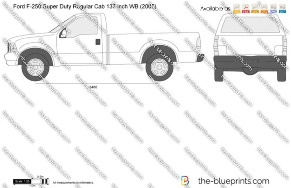 medium resolution of ford f 250 super duty regular cab 137 inch wb