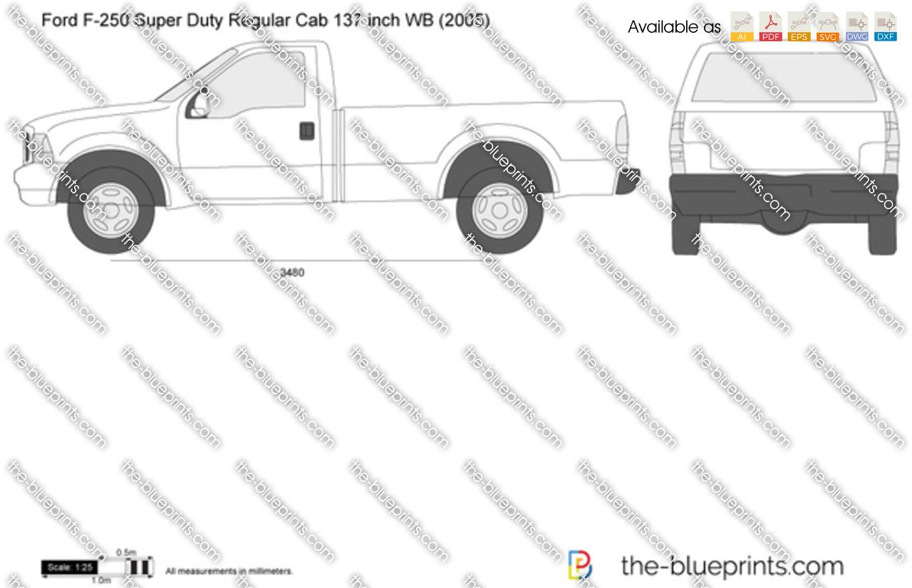 hight resolution of ford f 250 super duty regular cab 137 inch wb