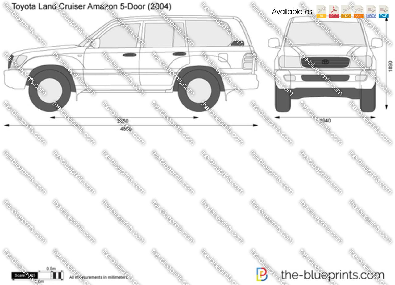 Toyota Land Cruiser Amazon 5-Door vector drawing