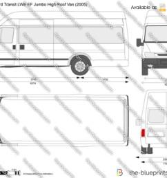 ford transit van diagram wiring diagram loadford transit lwb ef jumbo high roof van vector drawing [ 1280 x 698 Pixel ]