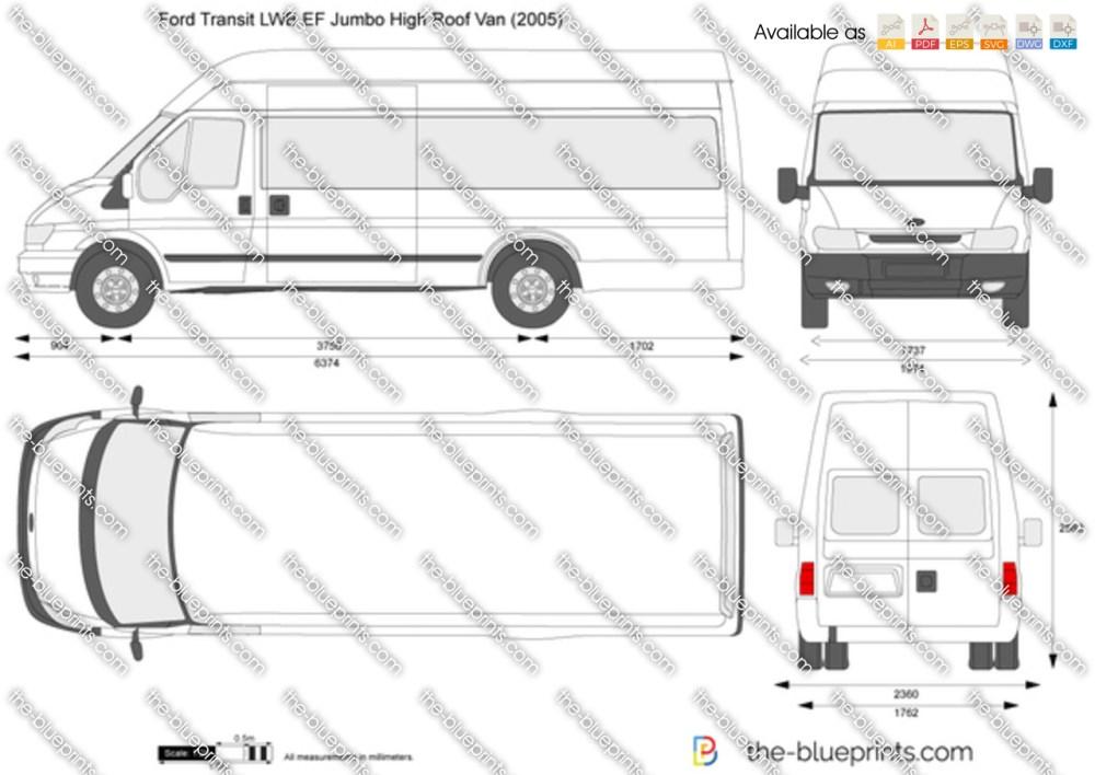 medium resolution of ford transit van diagram wiring diagram loadford transit lwb ef jumbo high roof van vector drawing