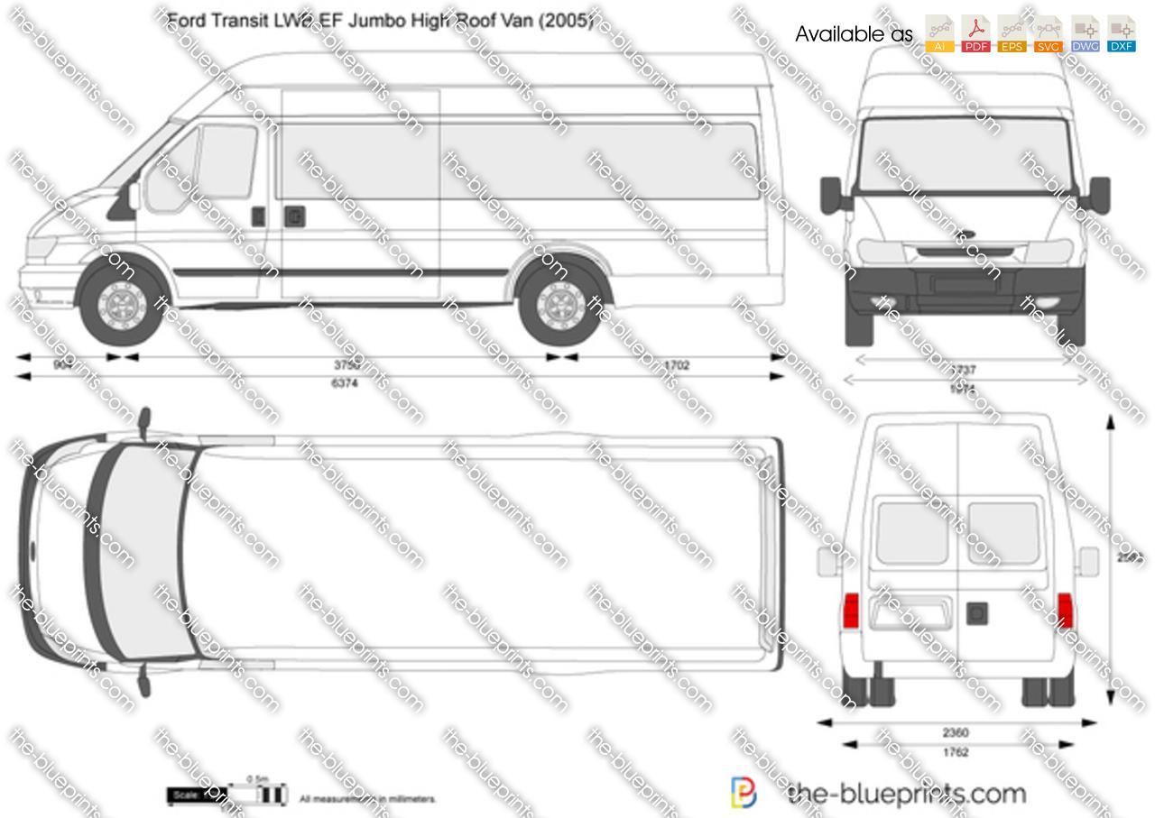 hight resolution of ford transit van diagram wiring diagram loadford transit lwb ef jumbo high roof van vector drawing