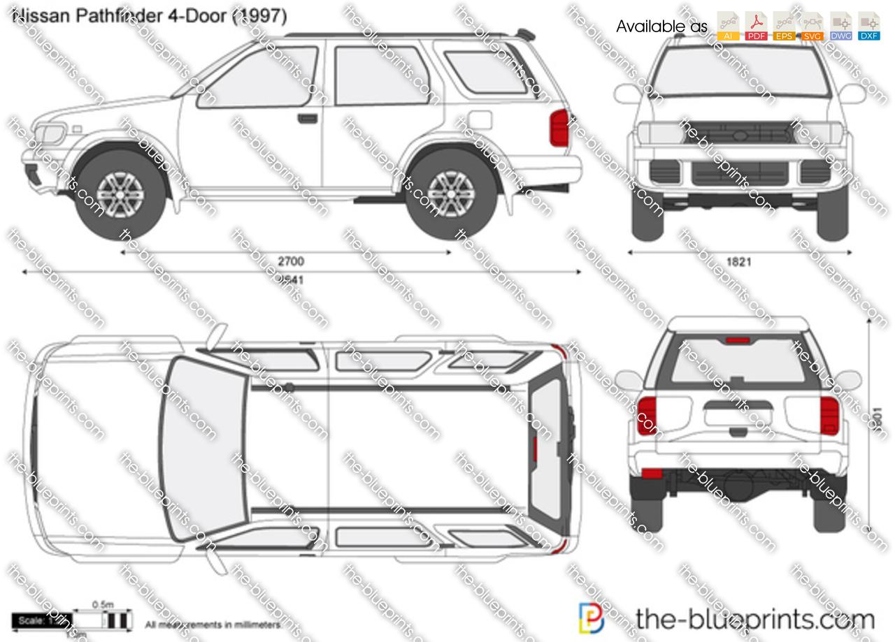 Nissan Pathfinder 4-Door vector drawing