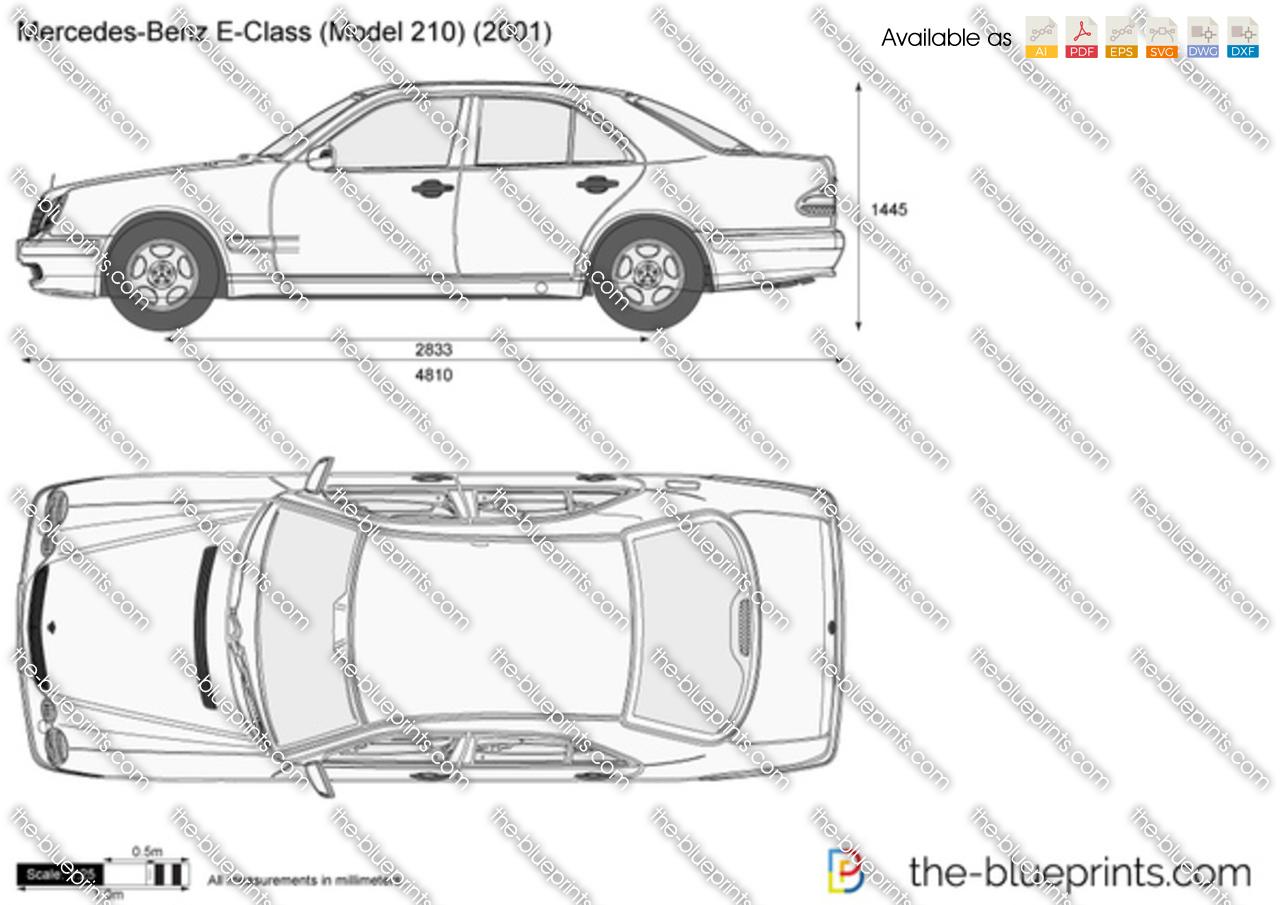 Mercedes-Benz E-Class W210 vector drawing