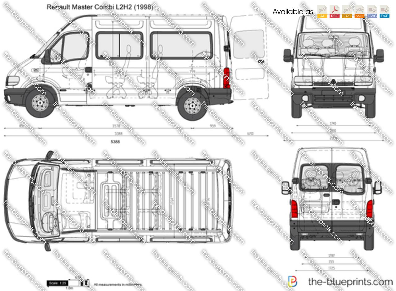 Renault Master Combi L2H2 vector drawing