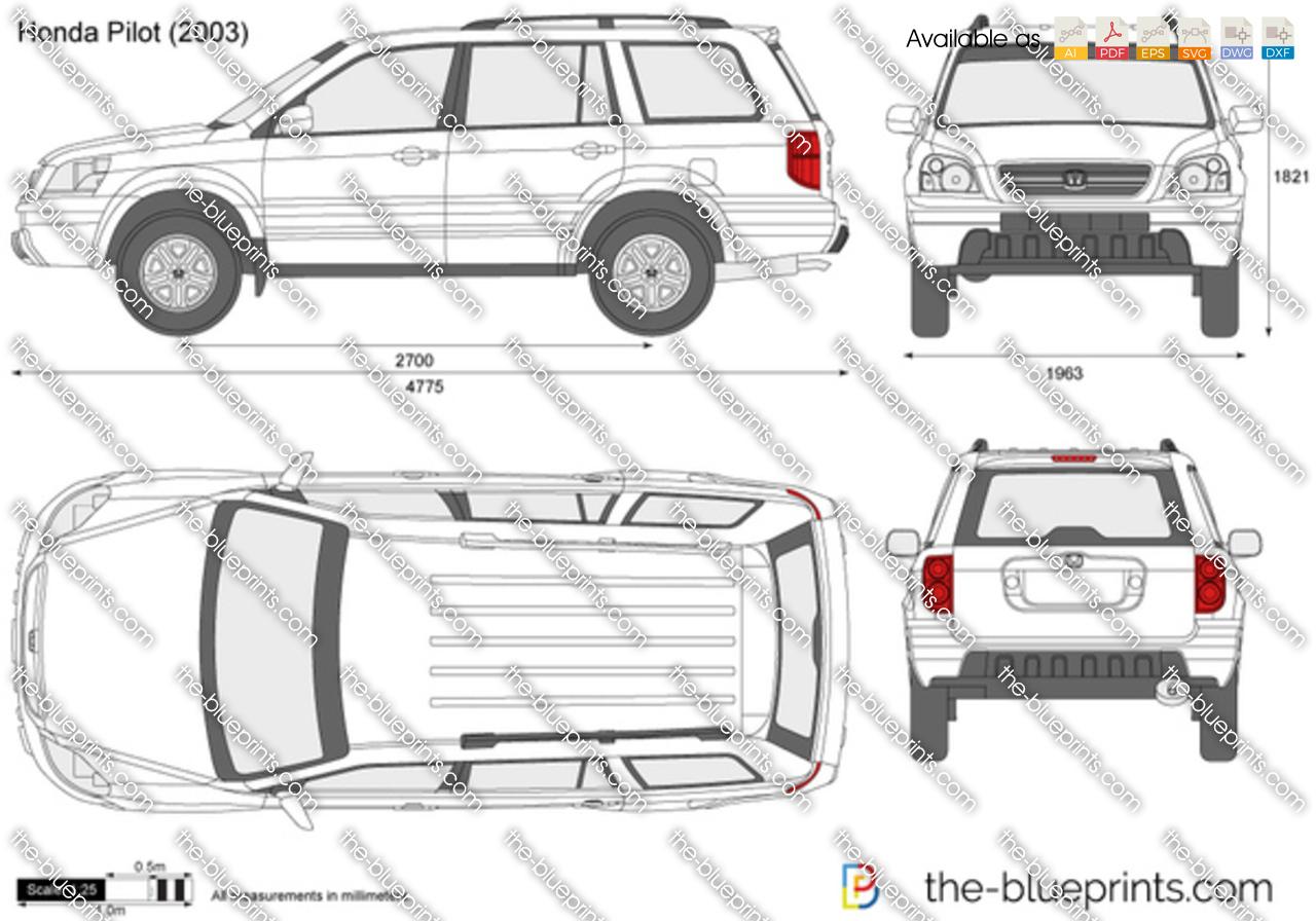 Honda Pilot vector drawing