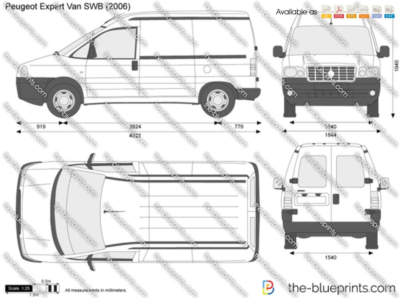 Peugeot Expert Van SWB vector drawing
