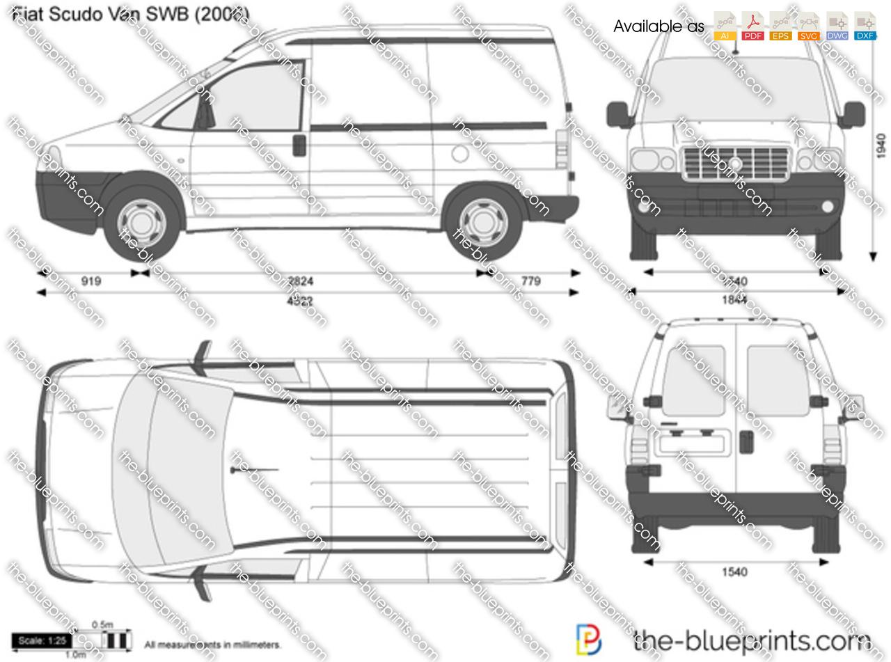 Fiat Scudo Van SWB vector drawing