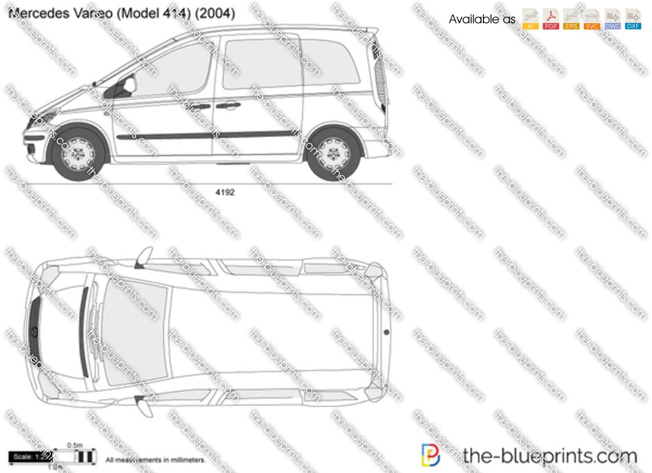 Mercedes-Benz Vaneo W414 vector drawing
