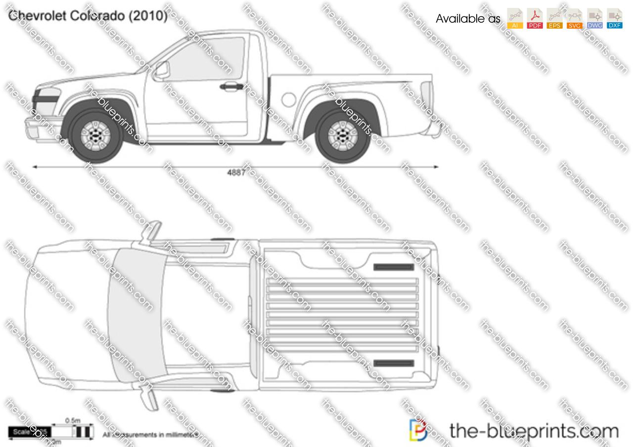 Chevrolet Colorado vector drawing