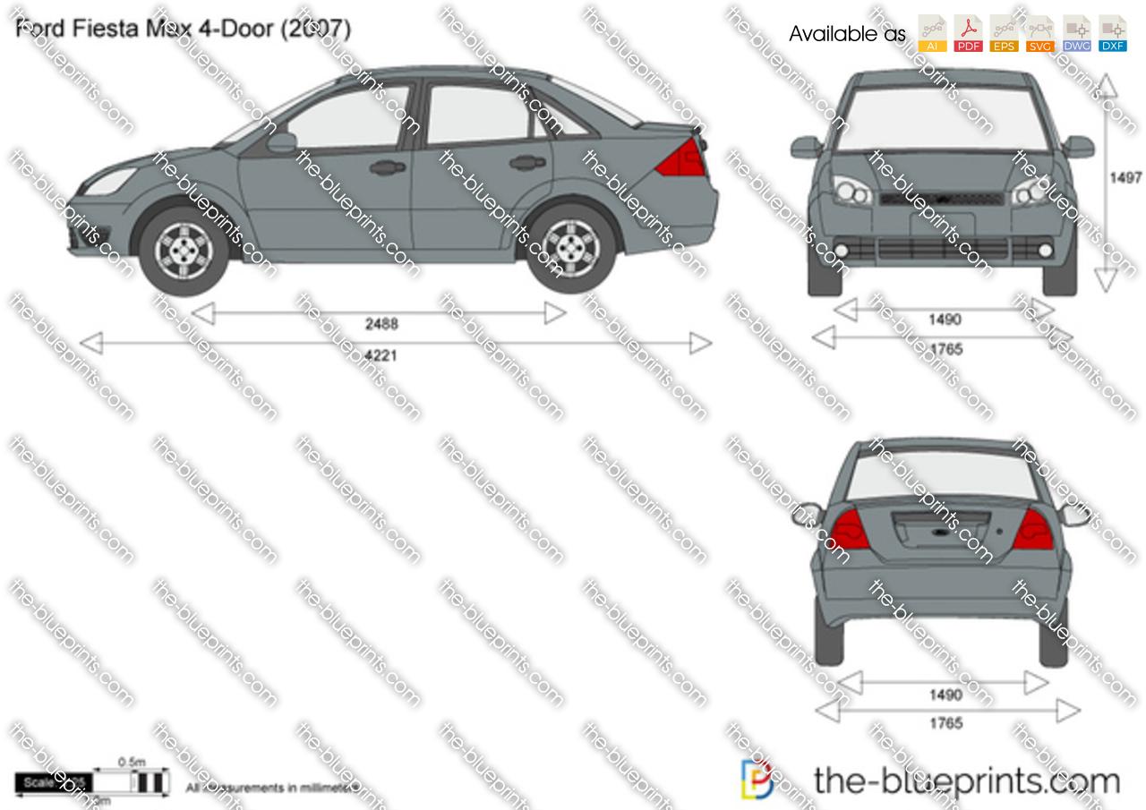 Ford Fiesta Max 4-Door vector drawing