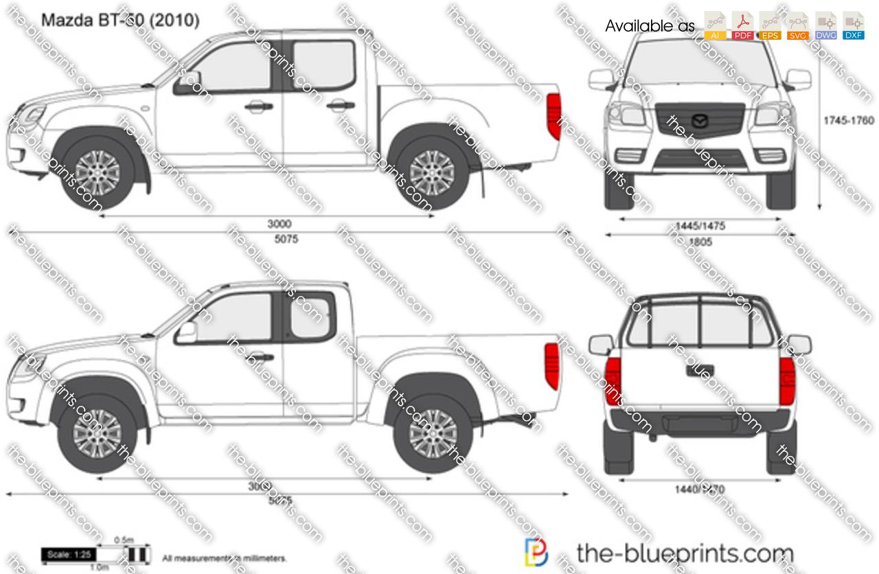 Mazda BT-50 vector drawing