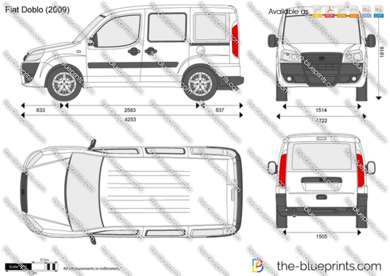 Fiat Doblo Cargo SWB vector drawing
