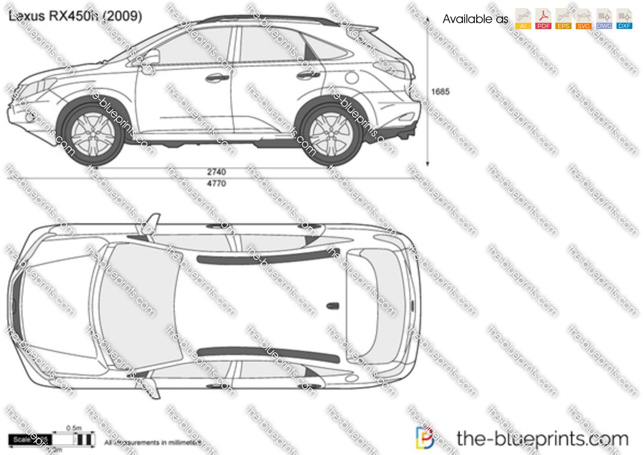 Lexus Rx450h Vector Drawing