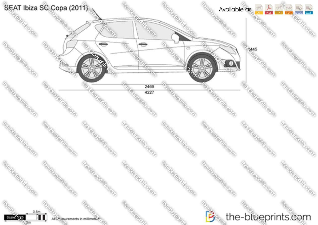SEAT Ibiza SC Copa vector drawing